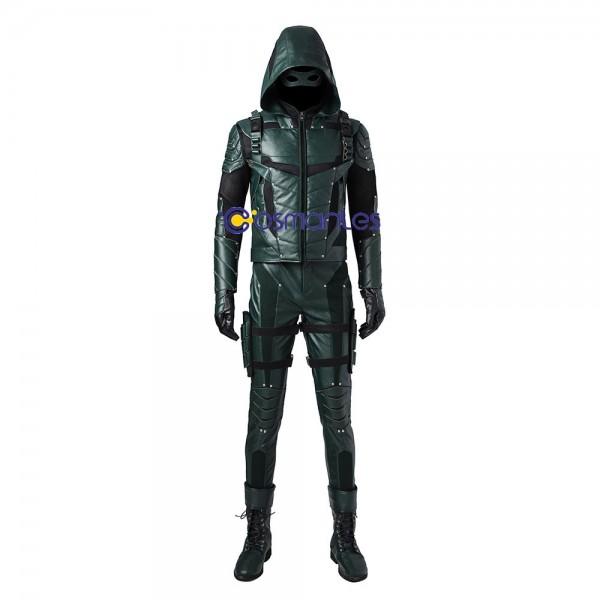 Oliver Queen Costume Green Arrow Season 5 Cosplay Suit Wtj3435