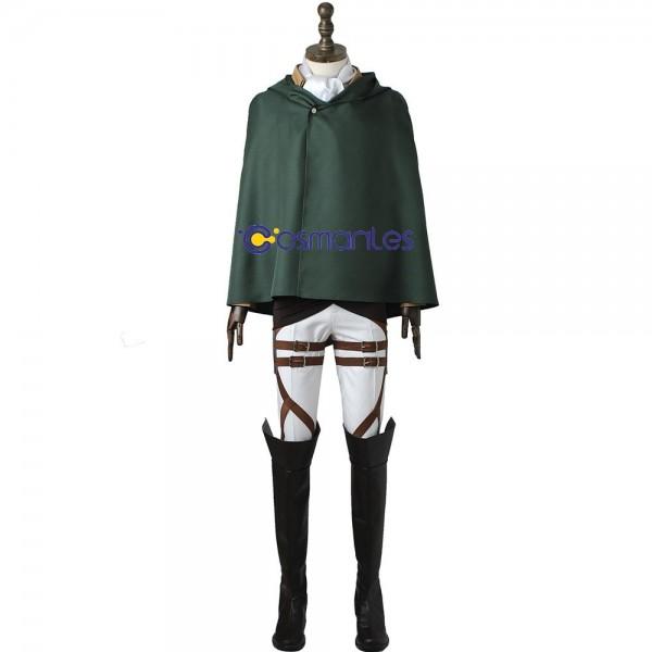 Levi Ackerman Cosplay Suit Cotton Fabric Costume