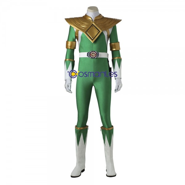 Power Rangers Green Ranger Cosplay Costume Mighty Morphin  Tommy Oliver Green Suit