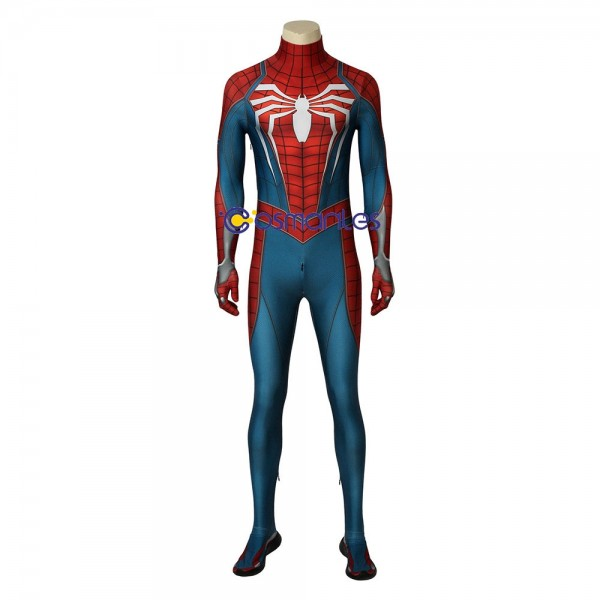 Spiderman Cosplay Costume PS4 Spider-man Advanced Suit