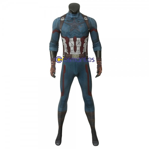 Captain America Suit Steve Rogers 3D Printed Bodysuit Wtj4194