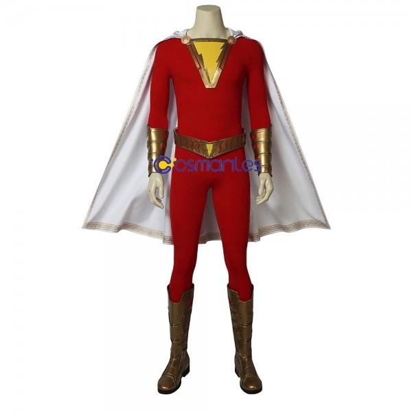 Superhero Shazam Cosplay Costume Shazam Cosplay Suit