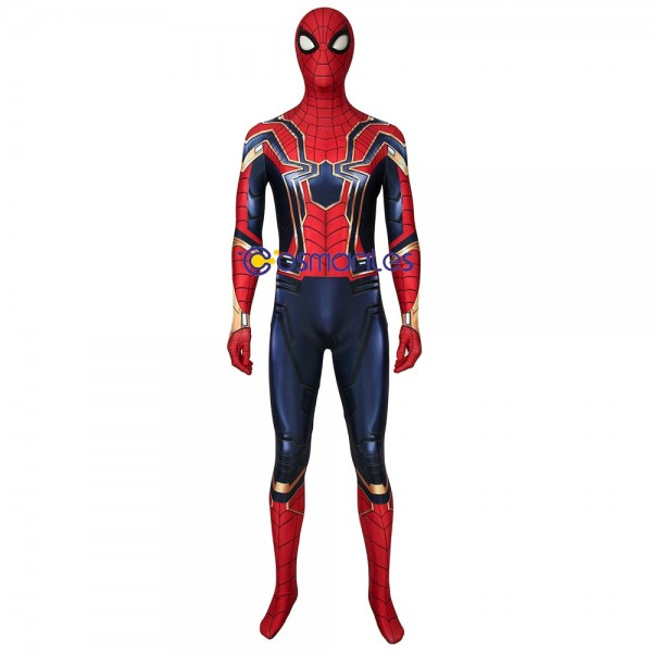 Endgame Spider-man Cosplay Suit Iron Spider-man Spandex Printed Cosplay Costume
