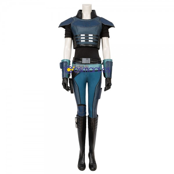 Cara Dune Cosplay Costumes The Mandalorian Artificial Leather Cosplay Suit