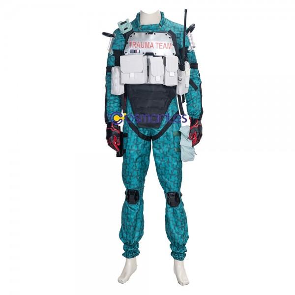 Trauma Team Cosplay Costumes Cyberpunk 2077 Green Cosplay Suit