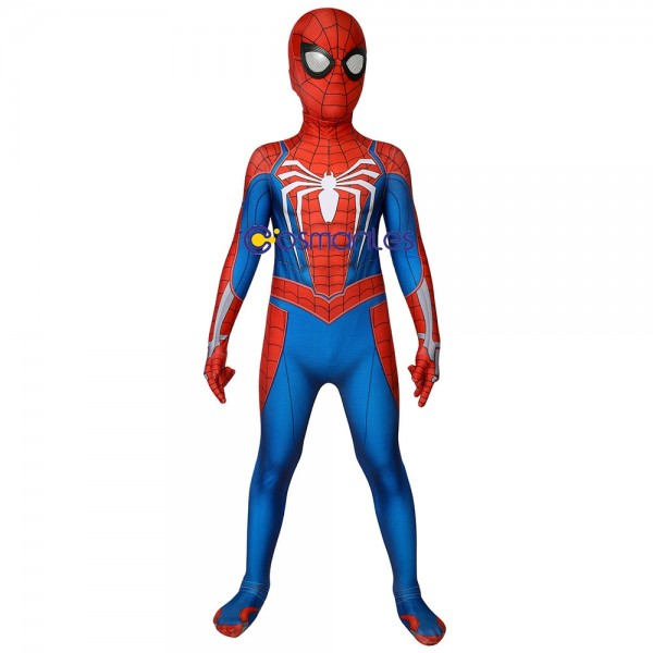 Kids Suit PS4 Spider-Man Cosplay Costume