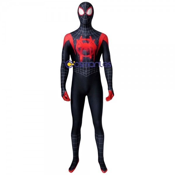 Miles Morales Cosplay Costumes Ver.3 Into The Spider Verse Spandex Suit
