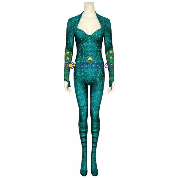 Mera Cosplay Suit Aquaman Mera Spandex Printed Cosplay Costumes