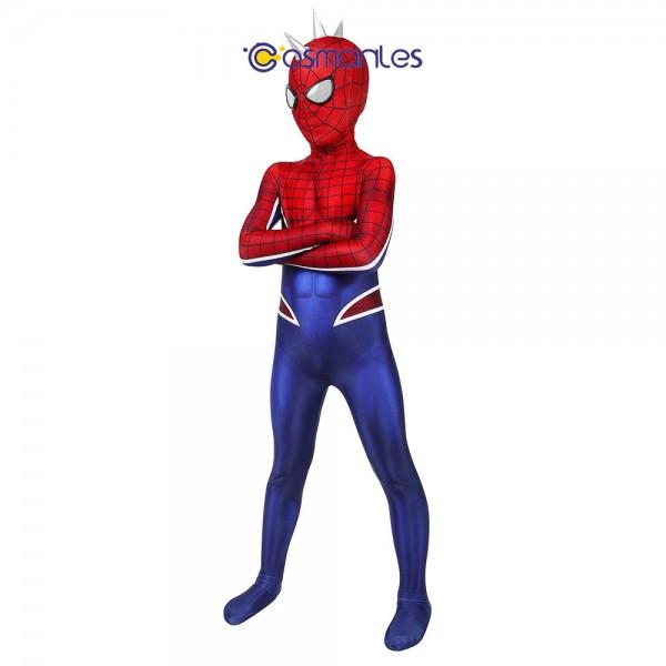 Kids Suit Punk Spider-man Cosplay Costume