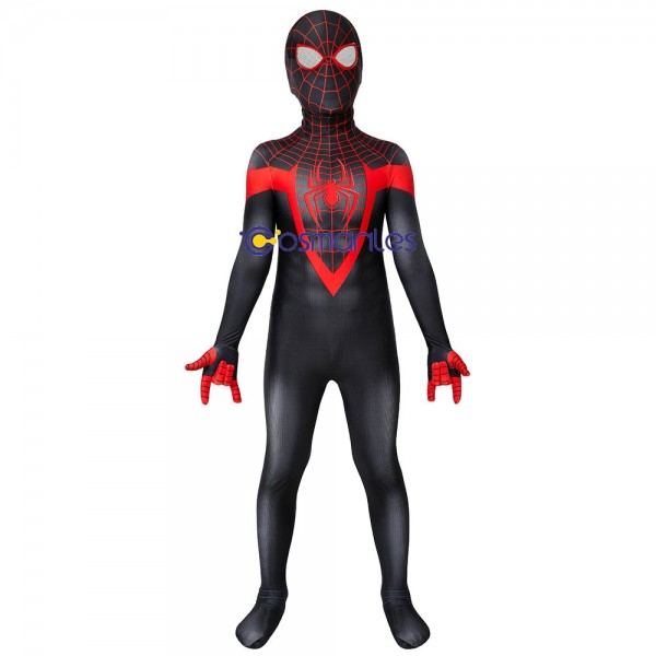 Kids Spider-man Cosplay Suit Miles Morales PS5 Spider-Man Cosplay Costume