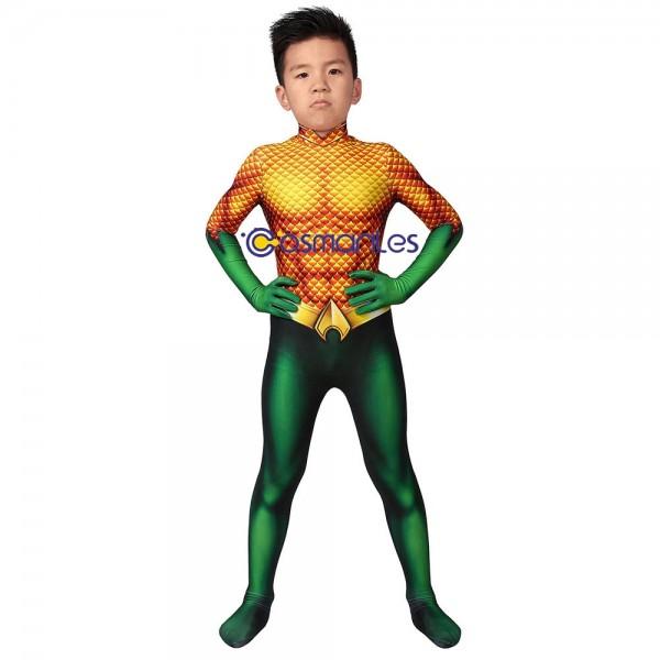 Kids Suit Aquaman Arthur Curry Cosplay Costume