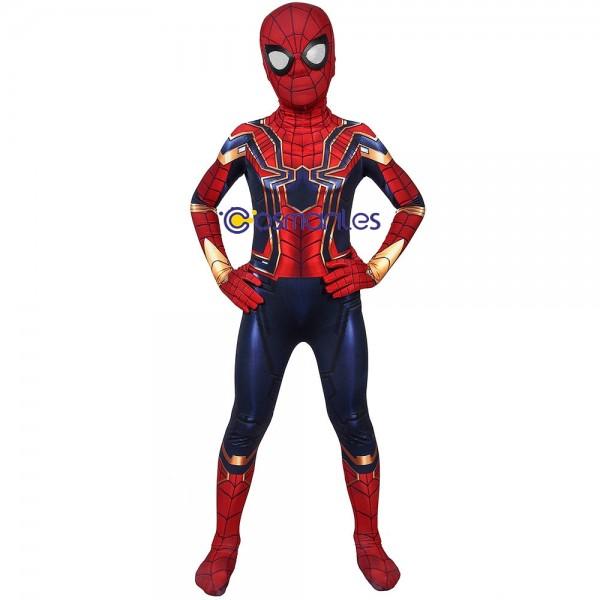 Kids Suit Iron Spider-Man Cosplay Costume