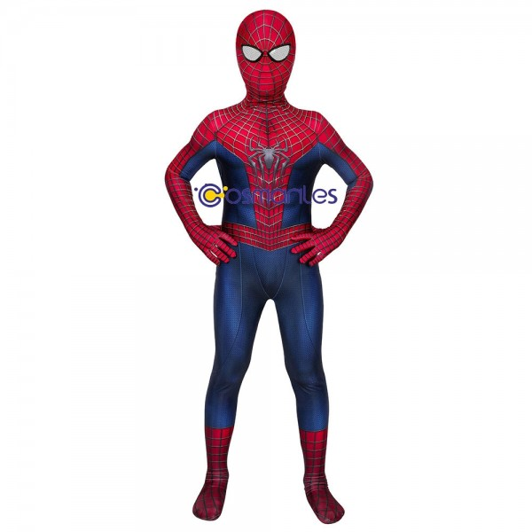 Kids Spider-man Cosplay Suit Spider-man Spandex Printed Cosplay Costume