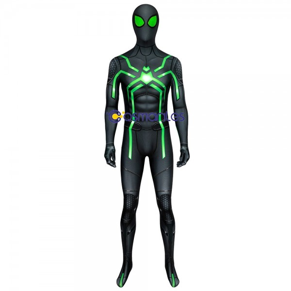 Spider-man Stealth Big Time Suit Spider man PS4 Spandex Printed Cosplay Costume
