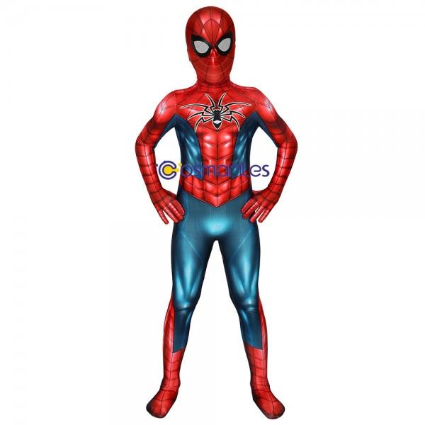 Kids Spider-Armor MK IV Cosplay Suit Spider-man Spandex Printed Cosplay Costume