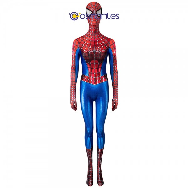 Female Spider-man 2 Spandex Cosplay Suit Tobey Maguire Girl Cosplay Costume