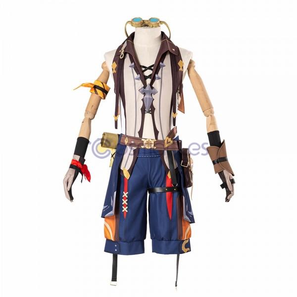 Genshin Impact Cosplay Costumes Bennett Top Level Cosplay Suit