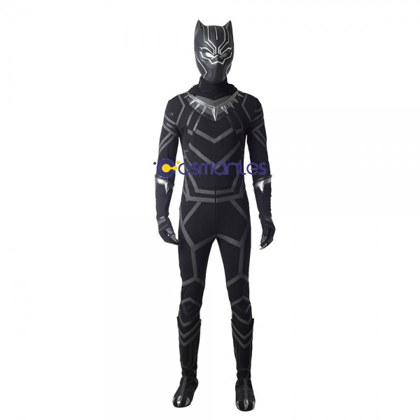 Black Panther Cosplay Costume T'Challa Cosplay Civil War Edition