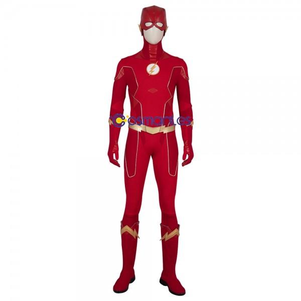 Barry Allen Cosplay Costumes The Flash Ver.2 Suit