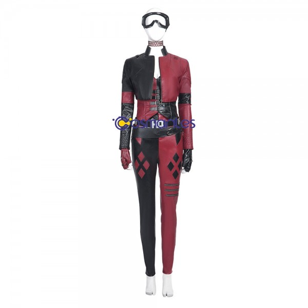 Harley Quinn Ver.2 Cosplay Costumes The Suicide Squad 2 Artificial Leather Cosplay Suit