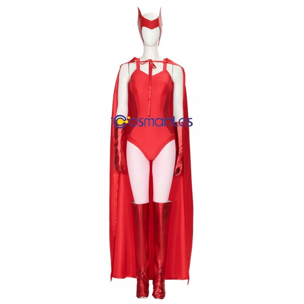 Scarlet Witch Cosplay Costumes WandaVision Red Cosplay Suit