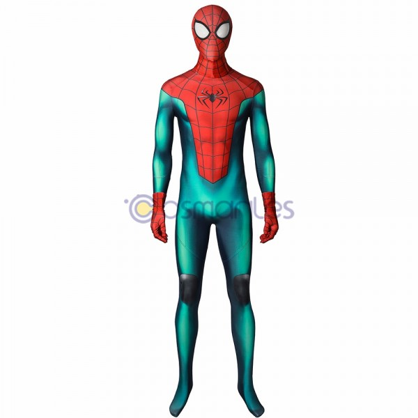 Great Responsibility Spider-man Cosplay Suit Miles Morales PS5 Spandex Printed Cosplay Costume