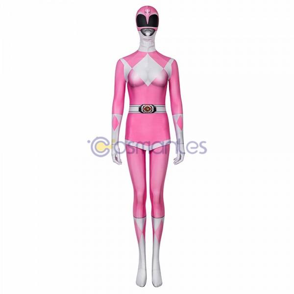 Pink Ranger Spandex Cosplay Suit Power Rangers Cosplay Costume
