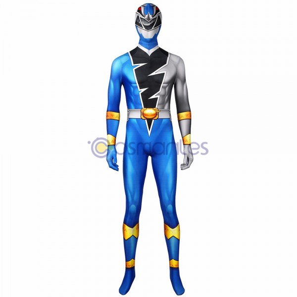The Power Rangers Cosplay Costume Koh Ryusoul Blue Ranger Spandex Printed Cosplay Suit