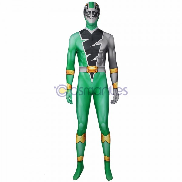 The Power Rangers Cosplay Costume Koh Ryusoul Green Ranger Spandex Printed Cosplay Suit